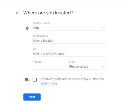 google my business location