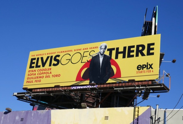 Elvis Goes There series launch billboard