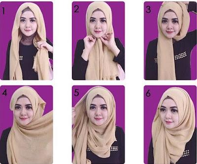 26+ Cara Memakai Jilbab Segi Empat Terbaru 2018: Simpel, Sederhana & Kekinian
