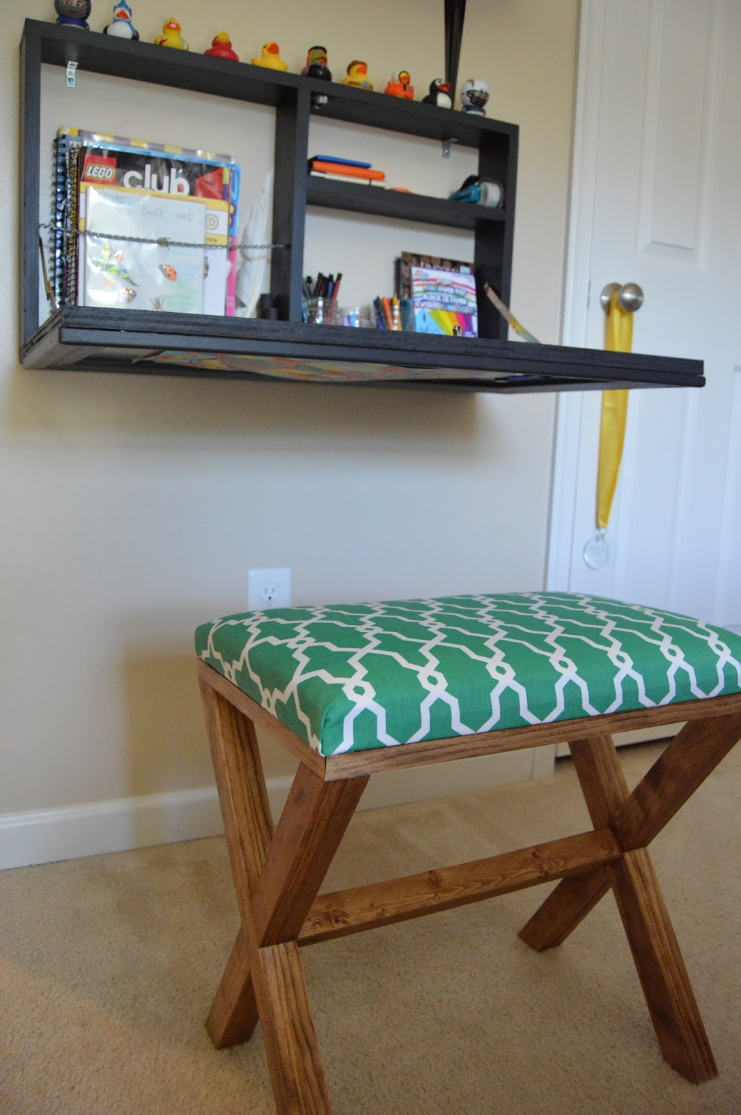 Designed To Dwell Diy Pull Down Wall Desk