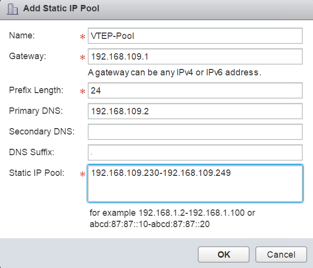 Configuring VXLAN for NSX Manager - TECHSUPPORT