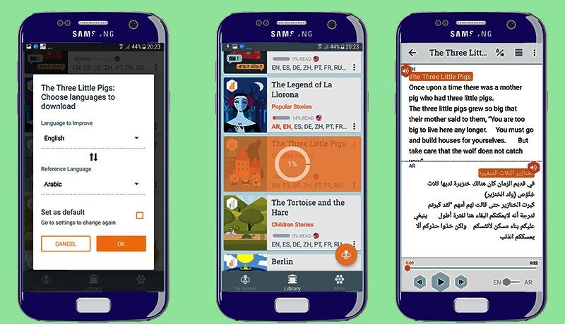 افضل تطبيق لتعلم اللغة الانجليزية للاندرويد عبر تحميل وقراءة القصص والروايات الانجليزية مترجمة مع الصوت
