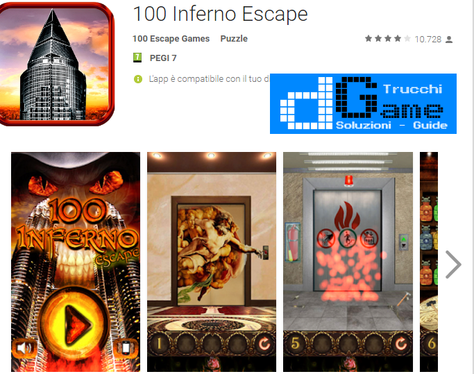 Soluzioni 100 Inferno Escape livello 41-42-43-44-45-46-47-48-49-50 | Trucchi e Walkthrough level