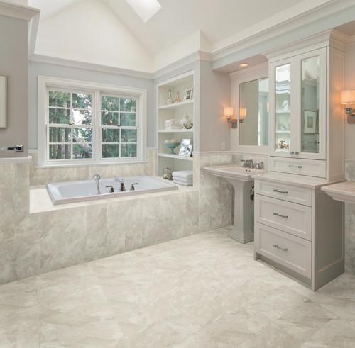 hot looks in porcelain tile marble