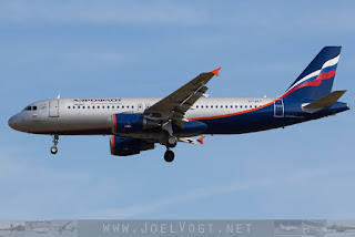 Airbus A320 of Aeroflot Russian Airlines, at Berlin Schönefeld