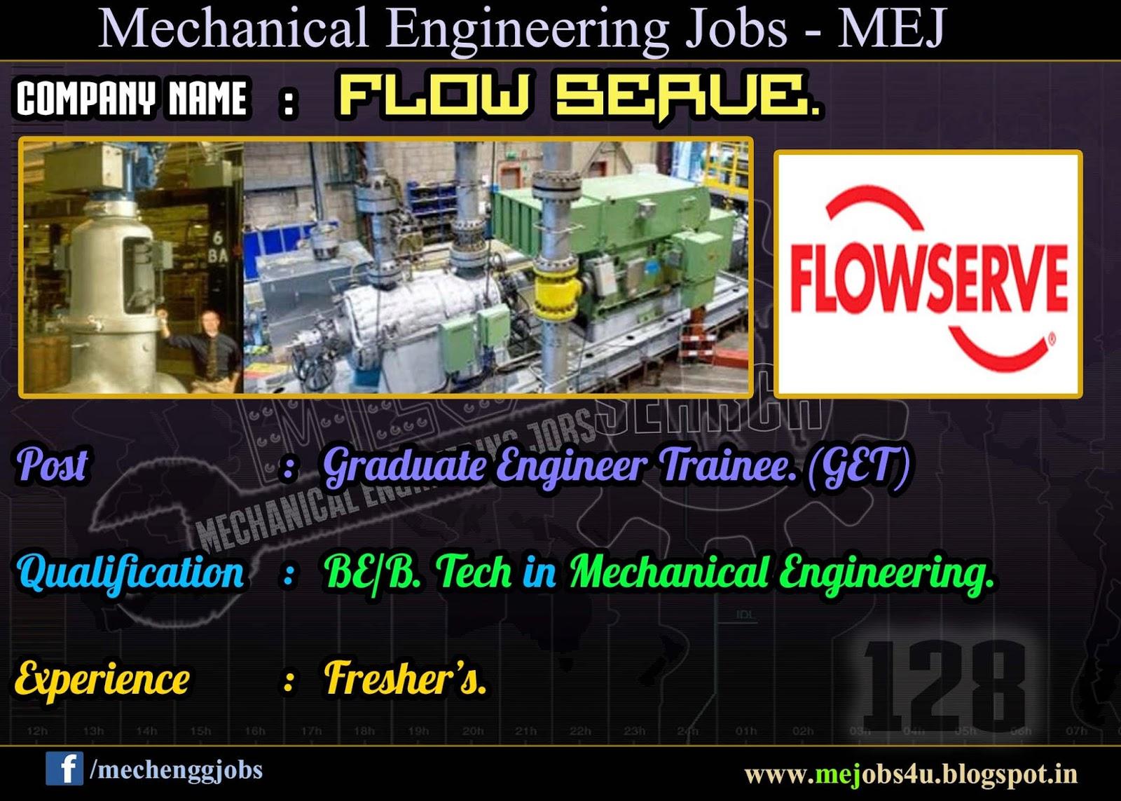 Flowserve _ Graduate Engineer Trainee _ Fresher's ...
