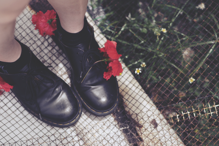 Brunei Blogger May Cho, Doc Martens, Hibiscus, Flower, experimental, flowers, tumblr