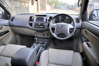 new toyota fortuner interior and steering