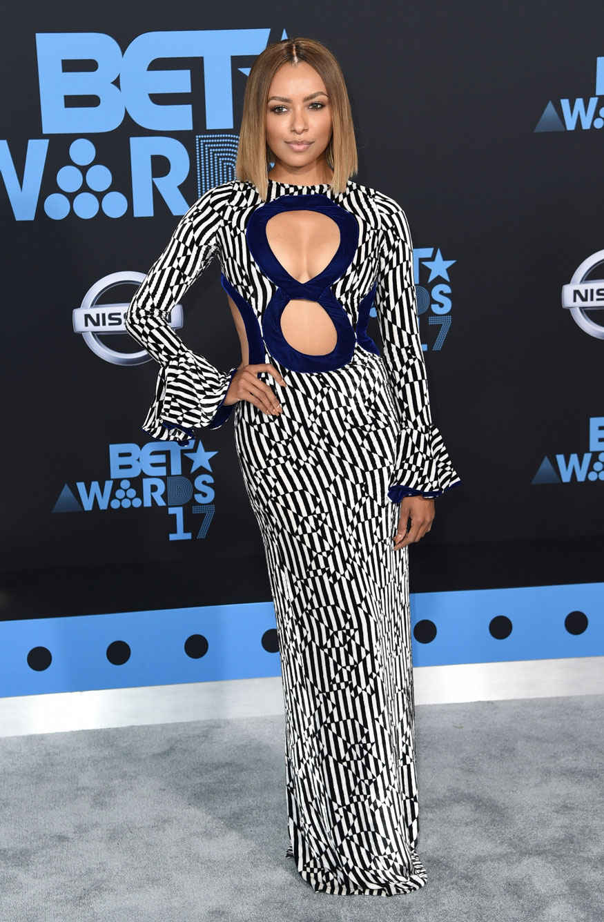 Kat Graham Arrives at The BET Awards at the Microsoft Theater