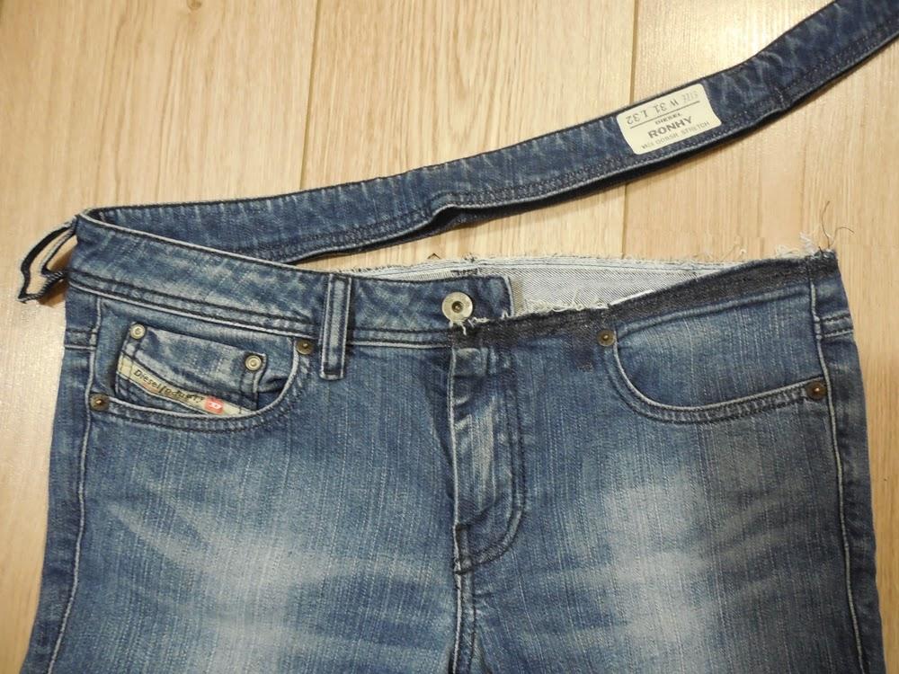 f3ee4c70 Nici (z) Szycia: Jak przerobić zwykłe jeansy na ciążowe - instrukcja ...