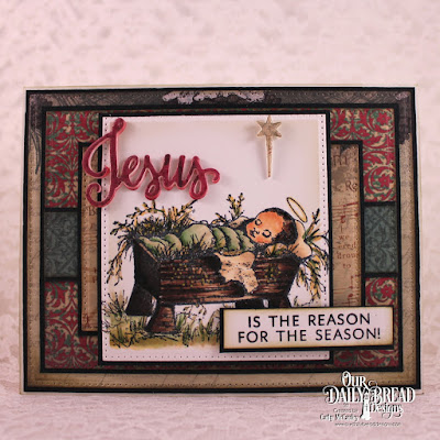 Our Daily Bread Designs Stamp/Die Duos: Jesus Loves You, Our Daily Bread Designs Stamp Set: The Babe, Our Daily Bread Designs Paper Collection: Christmas 2013, Our Daily Bread Designs Custom Dies:Pierced Rectangles