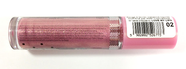 BELL COSMETICS Rouge à lèvres liquide en métal (02 Rose)