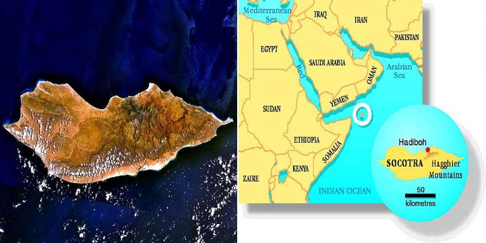 socotra map map socotra island