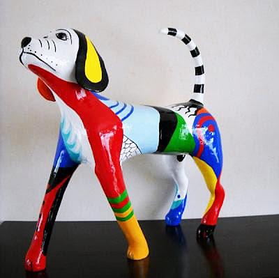 Paper Maché Dog Sculpture