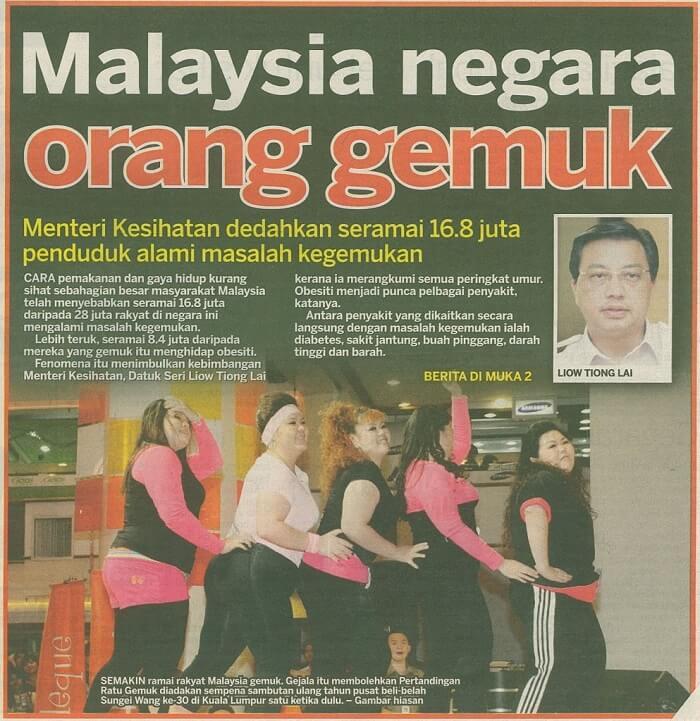 Malaysia Paling Obesiti
