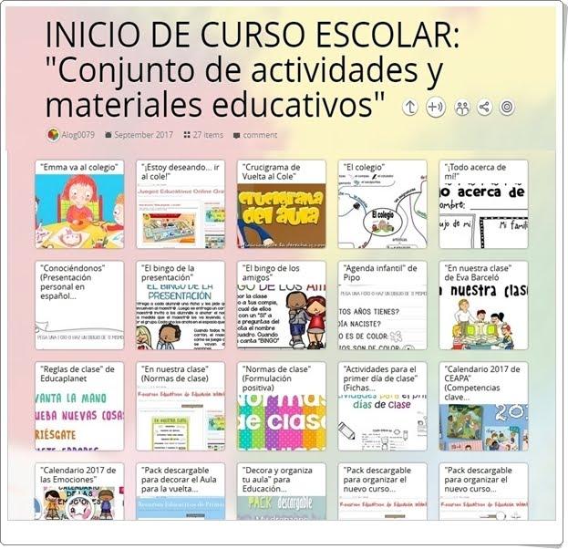 """Inicio de Curso: """"Colección de actividades y materiales educativos"""""""