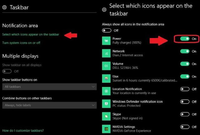 كيفية إخفاء الرموز على شريط المهام في ويندوز 10