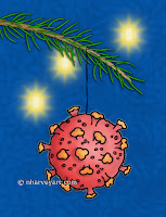 Coronavirus Ornament card on Zazzle