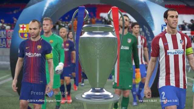 PES18 Start Screen For PES 2017