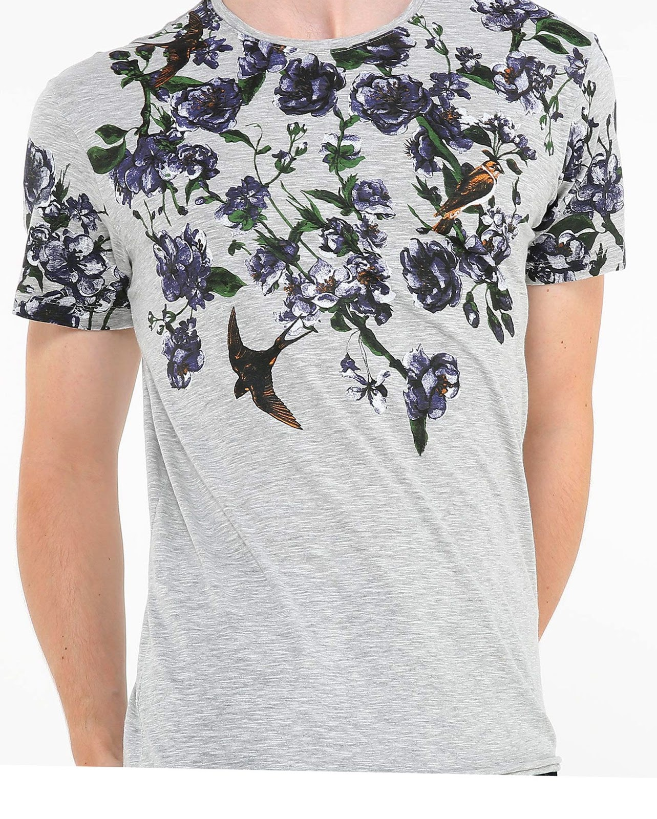 LEO KLEIN - KADU DANTAS PARA RIACHUELO - Camiseta Mescla Floral Birds
