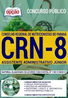 baixar Apostila Concurso CRN 8ª Região 2018 PDF