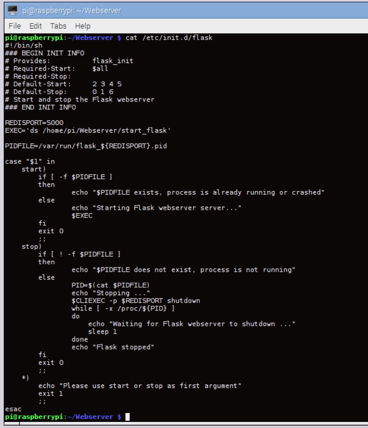 Setting Up Flask Just Random Stuff Wiringpi Shell Script The Called To Start Is