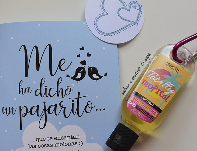 Higienizador de Manos Clip&Clean de Mad Beauty - Tropical Coconut