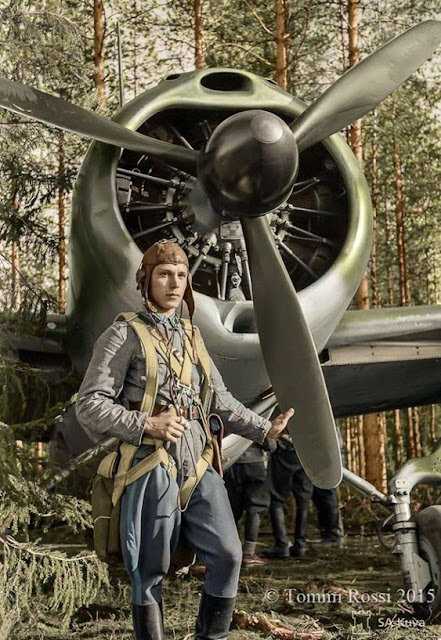 Staff Sergeant Eero Kinnunen and his Brewster 239 fighter 24 June 1941 worldwartwo.filminspector.com