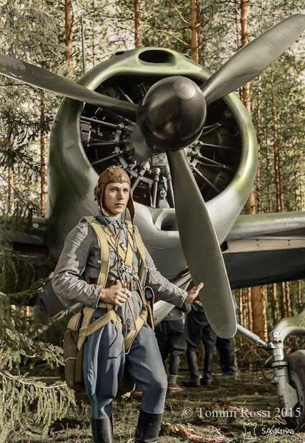 Staff Sergeant Eero Kinnunen and his Brewster 239 fighter 24 June 1941 worldwartwo.filminspector.com