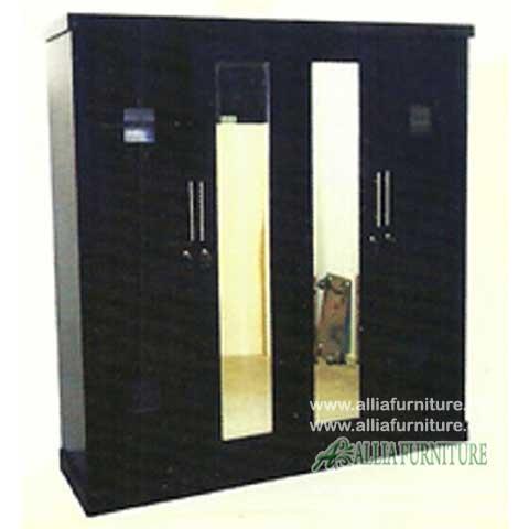 lemari minimalis 4 pintu model apollo