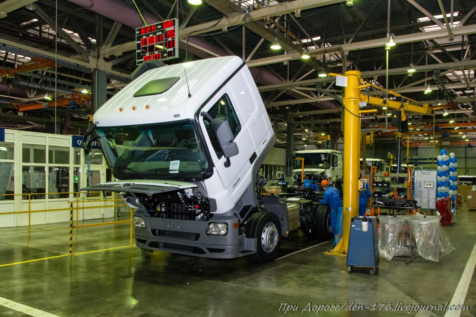 How to make MBTV 18 Mercedes Benz trucks in Naberezhnye Chelny