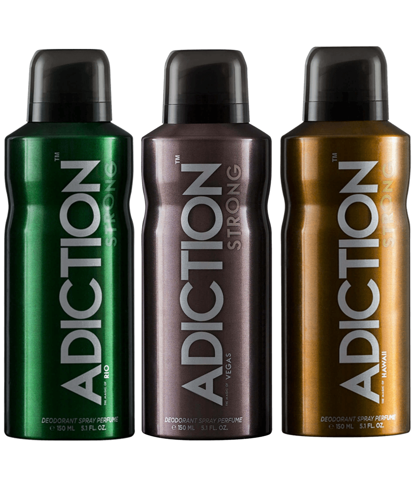 Pack of 3 Adiction Body Spray for Men 200 ml
