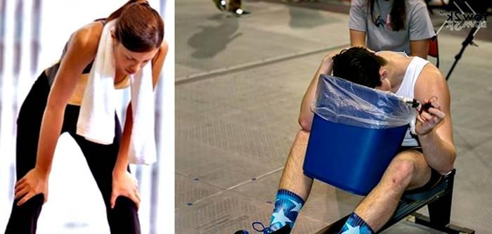 Otros motivos por los cuales sientes ganas de vomitar durante el ejercicio o en otros momentos del día