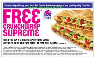 Taco Bell coupons april