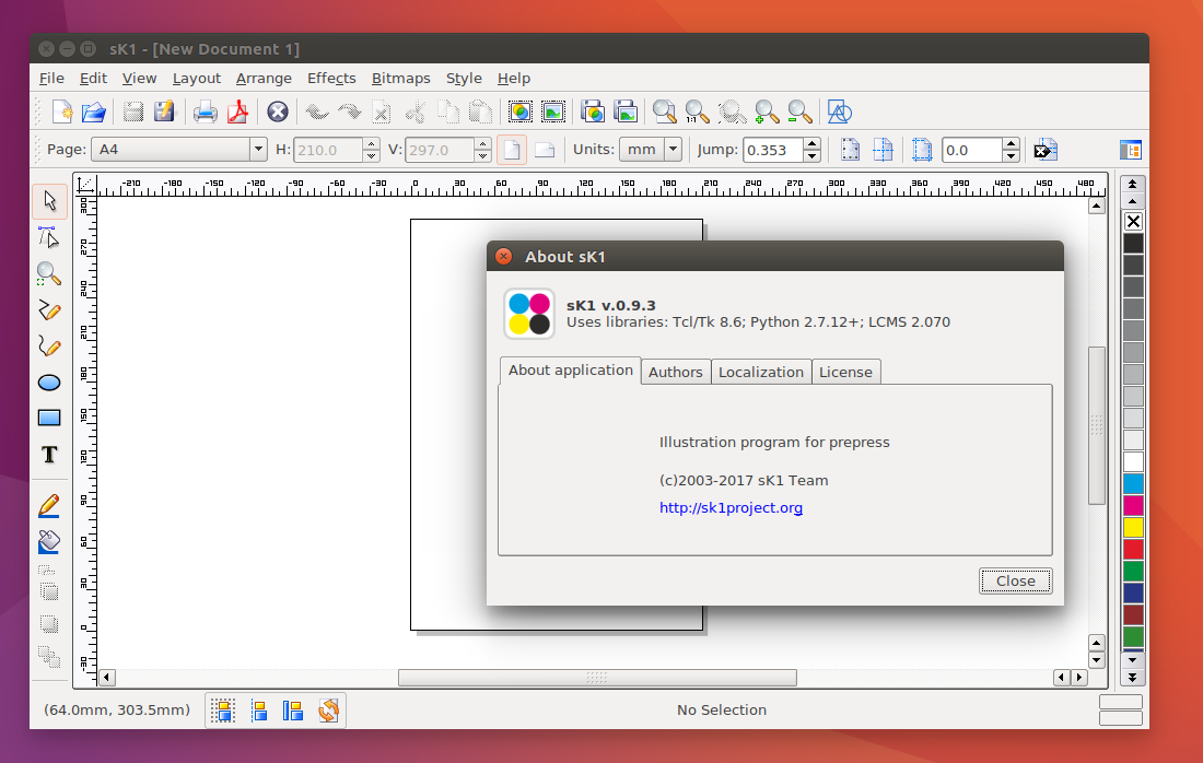 Ubuntu Buzz !: How To Install sK1 Vector Editor 0 9 3 from