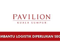 Jawatan Kosong di Kuala Lumpur Pavilion - Pembantu Logistik Diperlukan