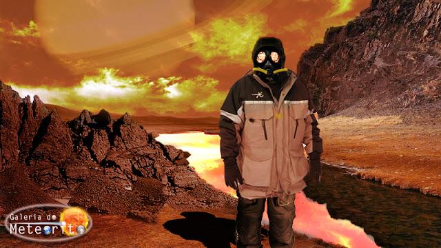 astronauta em Titã
