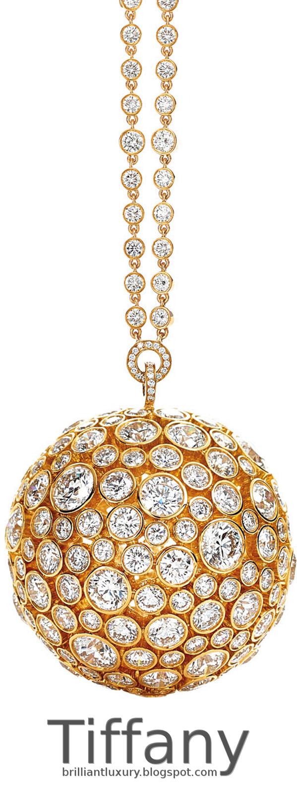 Brilliant Luxury ♦ Tiffany prism orb pendant