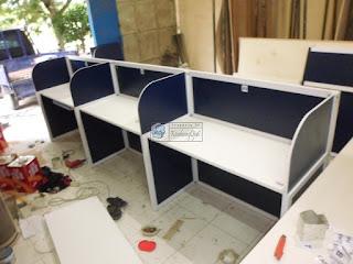 Meja Partisi Kantor + Furniture Kantor Semarang + Pesan Furniture Cepat