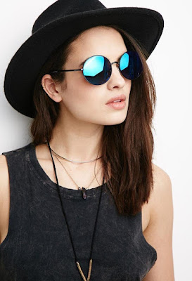 Round Mirrored Sunglasses