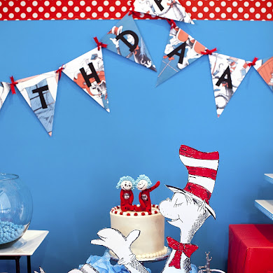 Cat in The Hat Inspired 3rd Birthday Party