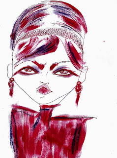 Bebee Pino girl in red