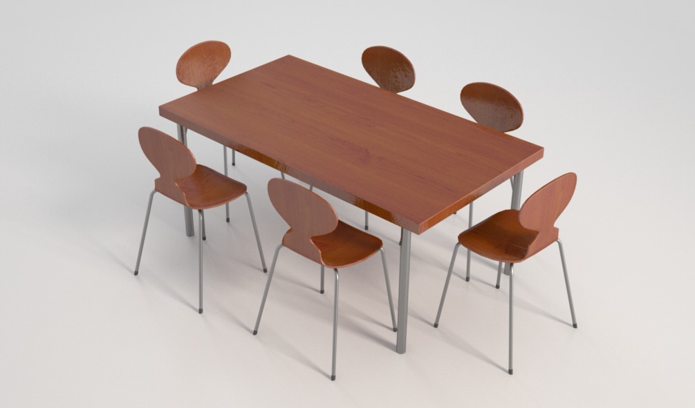 Peachy Free Dining Table Group C4D Vray Source Inzonedesignstudio Interior Chair Design Inzonedesignstudiocom