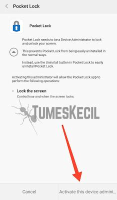 cara otomatis kunci hp android saat dimasukkan ke dalam kantong