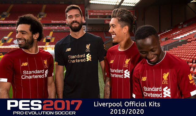222954ec495 PES 2017 Liverpool Official Kits 2019 2020 (Home