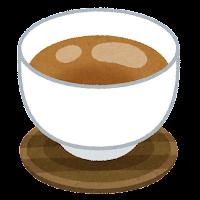 お茶のイラスト「茶色」