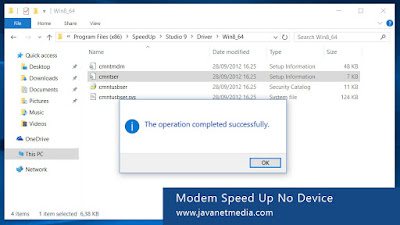 Cara Mengatasi Problem No Device Modem Speed Up di Windows 10