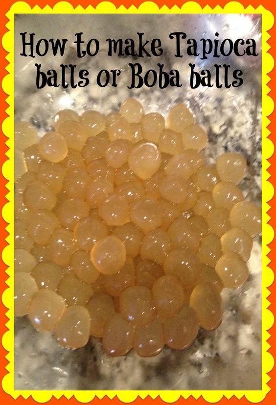 TAPIOCA BALLS OR BOBA BALLS