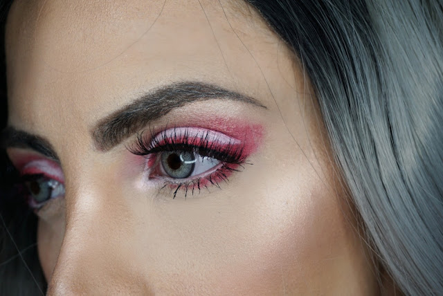 EYE CLOSE UP USING ONLY PINK OF ME AND POP(ULAR) BY MARC JACOBS MATTE GEL HIGHLINERS TO CREATE A CUT CREASE AND ON THE WATERLINE PLUS EYE CORNER