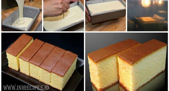INILAH Resep Castella Cake Khas Jepang. Tampil Mewah Dengan Bahan yang Sederhana